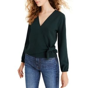 NWT Madewell Texture & Thread Crepe Wrap Top